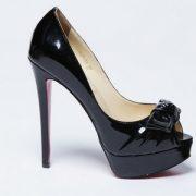 Туфли черные на шпильке фото 028