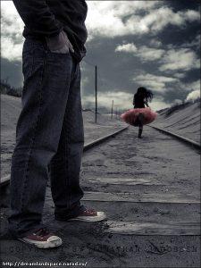 Уходящая девушка со спины   красивые фото 020