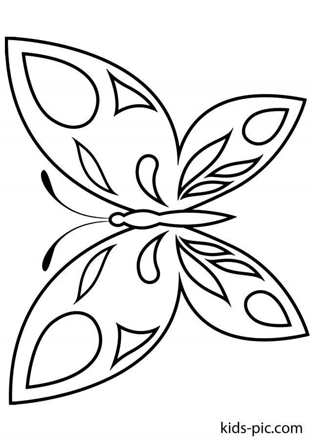 Бабочка на открытку трафарет, фото