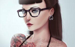 Фото блондинок девушек в очках   подборка 027