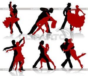 Фото в танце силуэт пары 027