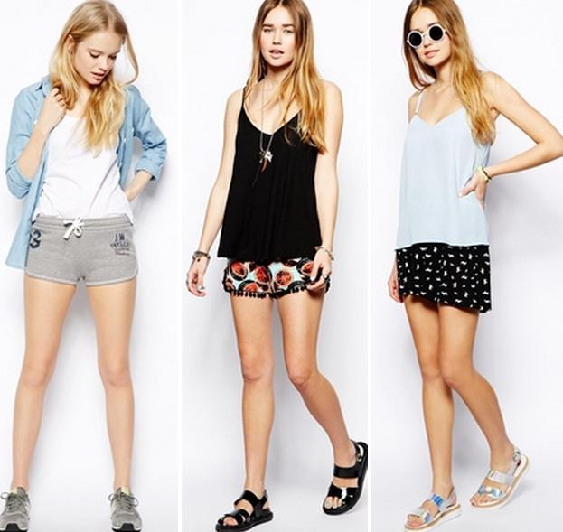 Фото девушек в джинсовых шортах и майках   подборка (11)