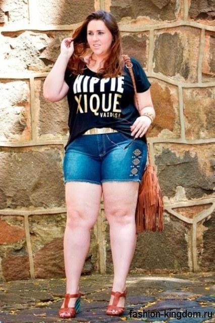 Фото девушек в джинсовых шортах и майках   подборка (17)