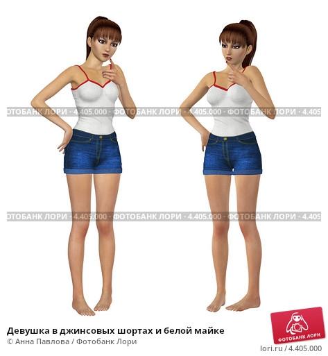 Фото девушек в джинсовых шортах и майках   подборка (19)