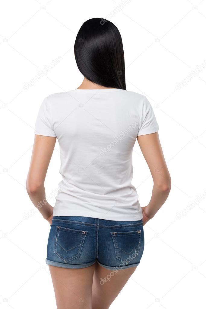 Фото девушек в джинсовых шортах и майках   подборка (2)