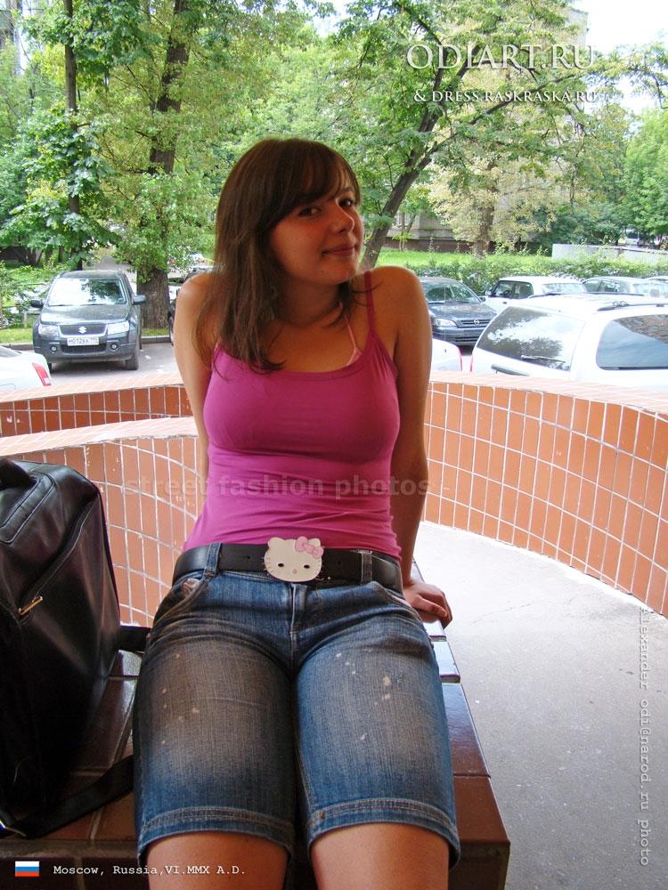 Фото девушек в джинсовых шортах и майках   подборка (22)