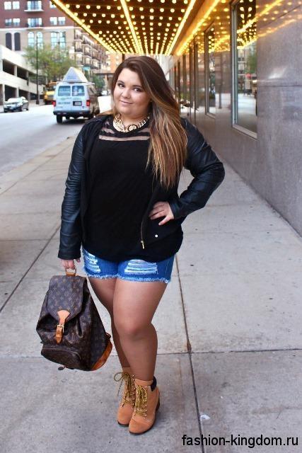 Фото девушек в джинсовых шортах и майках   подборка (24)