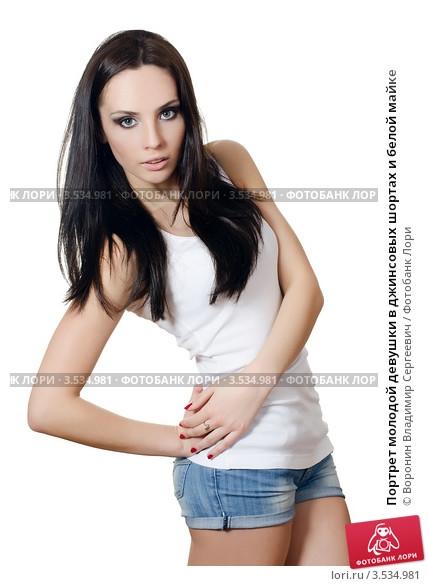 Фото девушек в джинсовых шортах и майках   подборка (7)