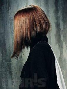 Фото девушка брюнетка с каре со спины   сборка (37)