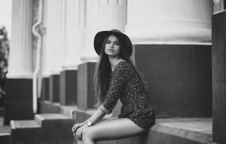 Фото девушка в платье черно белое   картинки (14)