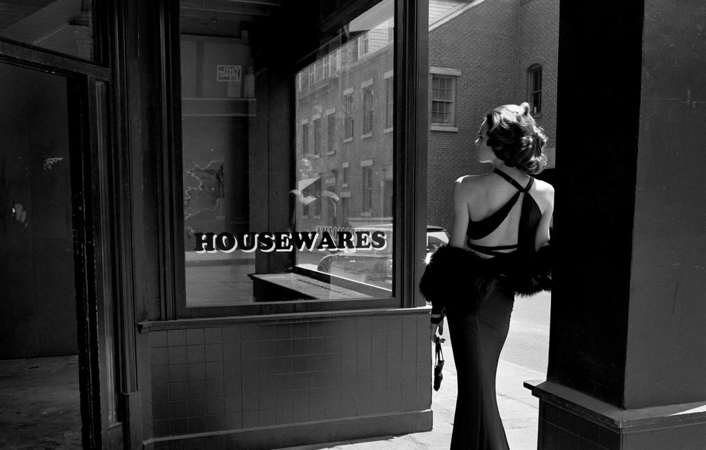 Фото девушка в платье черно белое   картинки (4)