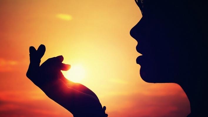Фото девушка и закат солнца   подборка 002