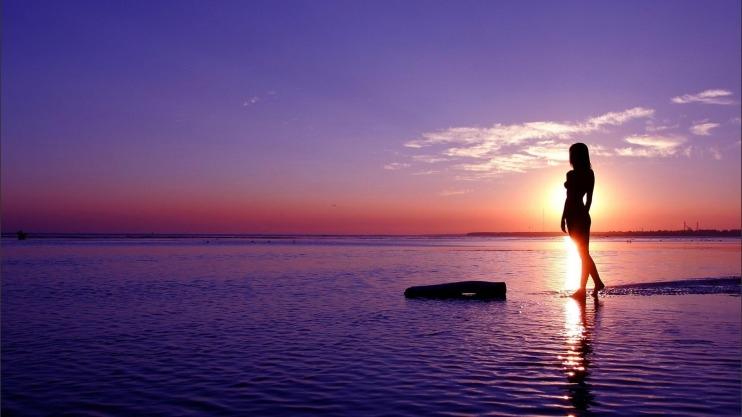 Фото девушка и закат солнца   подборка 006