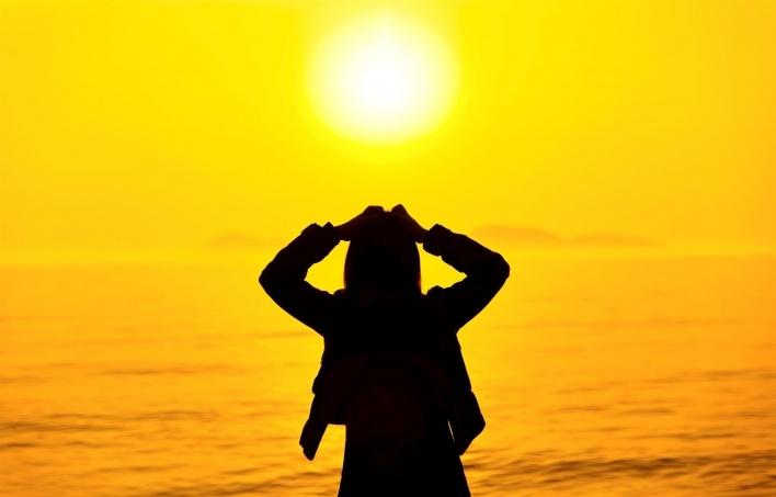 Фото девушка и закат солнца   подборка 007