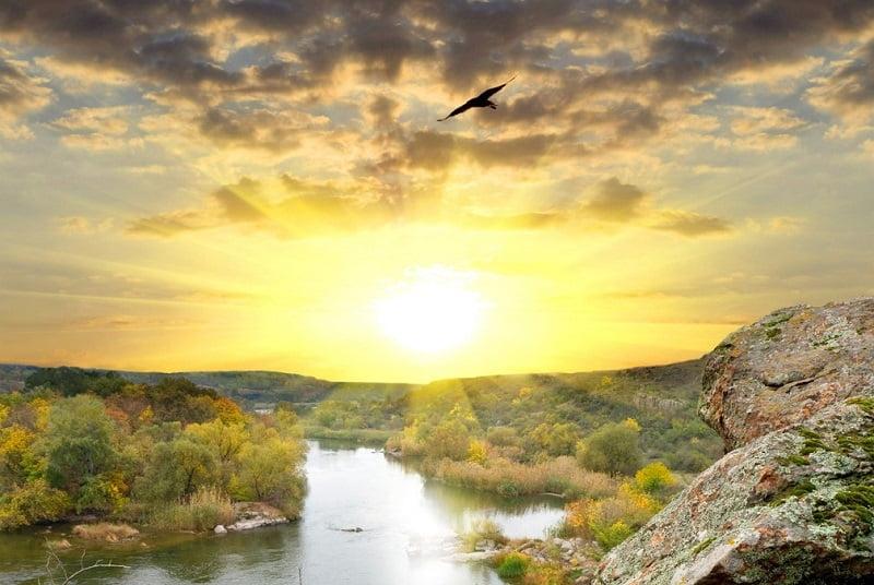 Фото девушка и закат солнца   подборка 010