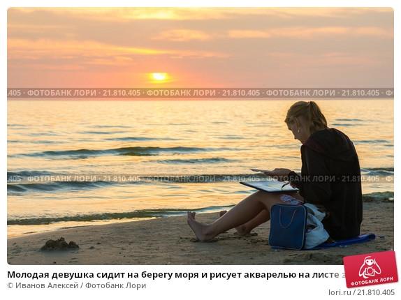 Фото девушка и закат солнца   подборка 011