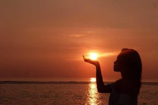 Фото девушка и закат солнца   подборка 019