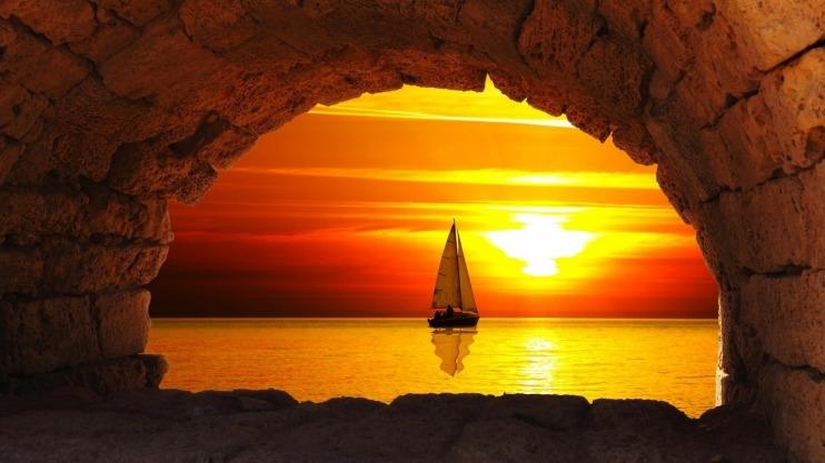Фото девушка и закат солнца   подборка 022