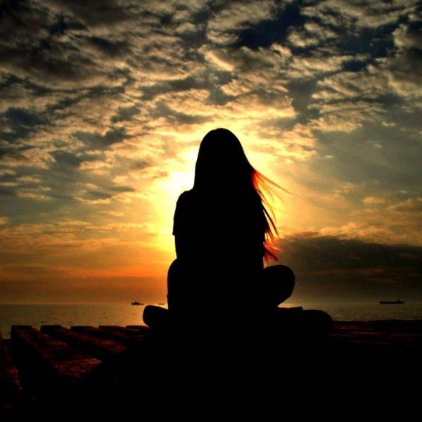 Фото девушка и закат солнца   подборка 023