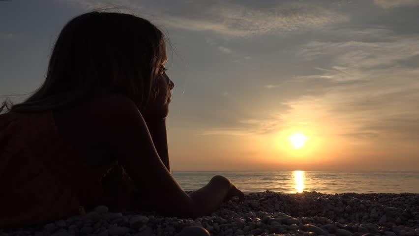 Фото девушка и закат солнца   подборка 025