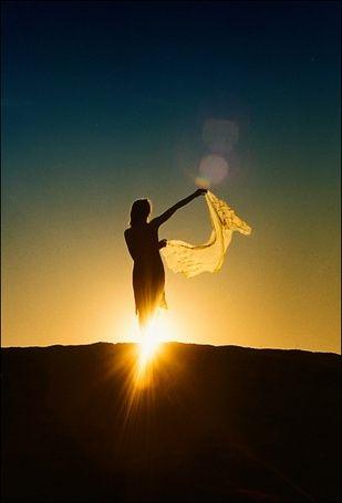 Фото девушка и закат солнца   подборка 027