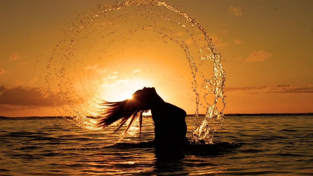 Фото девушка и закат солнца   подборка 028