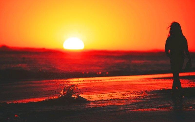 Фото девушка и закат солнца   подборка 029