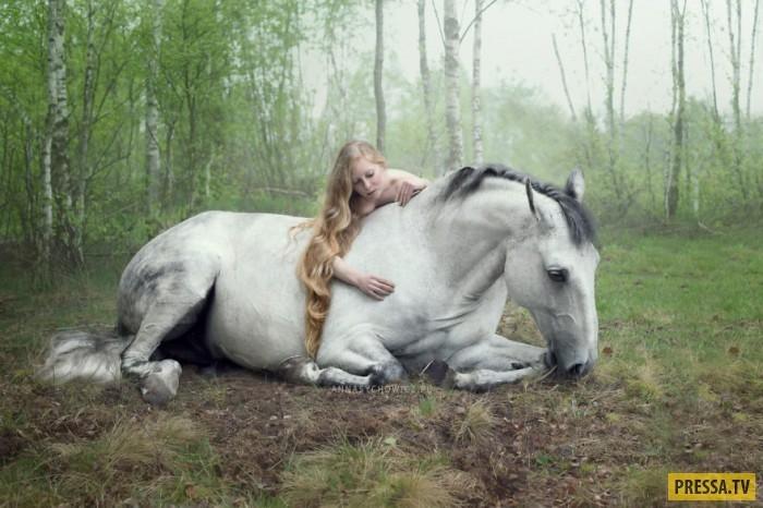 Фото девушка на коне   подборка 029
