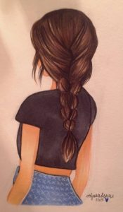 Фото девушка спиной стоит   подборка 025