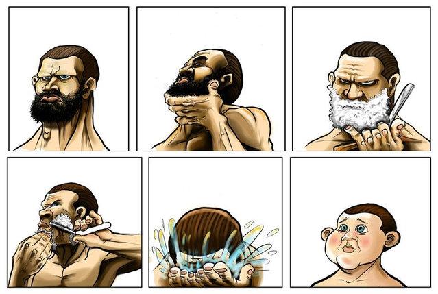 Фото с бородой и без бороды   приколы, картинки (2)