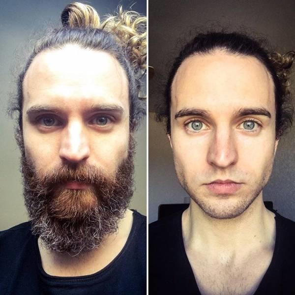 Фото с бородой и без бороды   приколы, картинки (23)