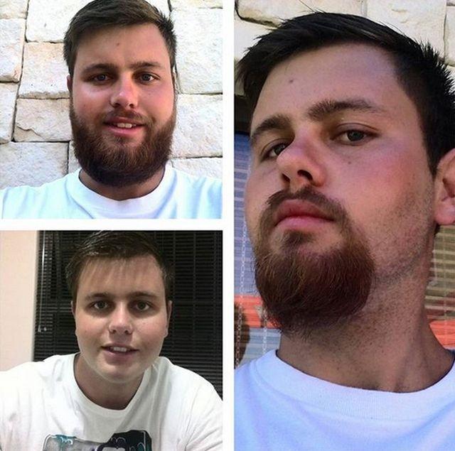 Фото с бородой и без бороды   приколы, картинки (8)