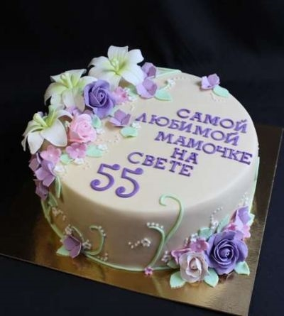 Фото торт для мамы на 55 лет   подборка 001
