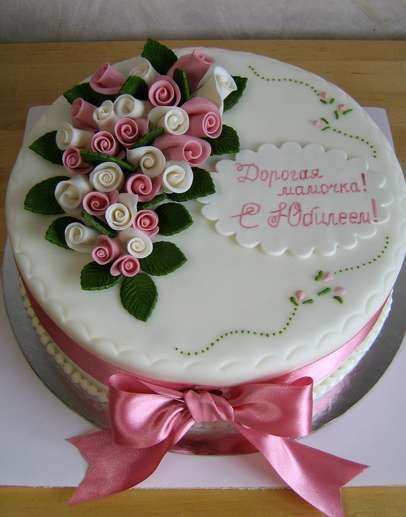 Фото торт для мамы на 55 лет   подборка 002