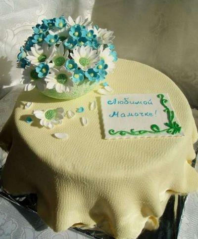 Фото торт для мамы на 55 лет   подборка 003