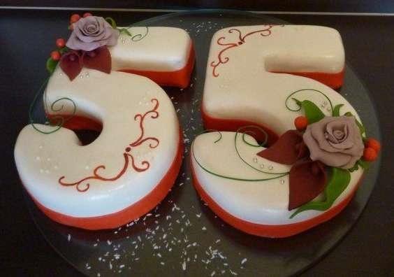 Фото торт для мамы на 55 лет   подборка 004