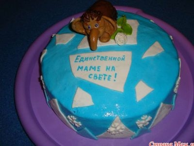 Фото торт для мамы на 55 лет   подборка 005