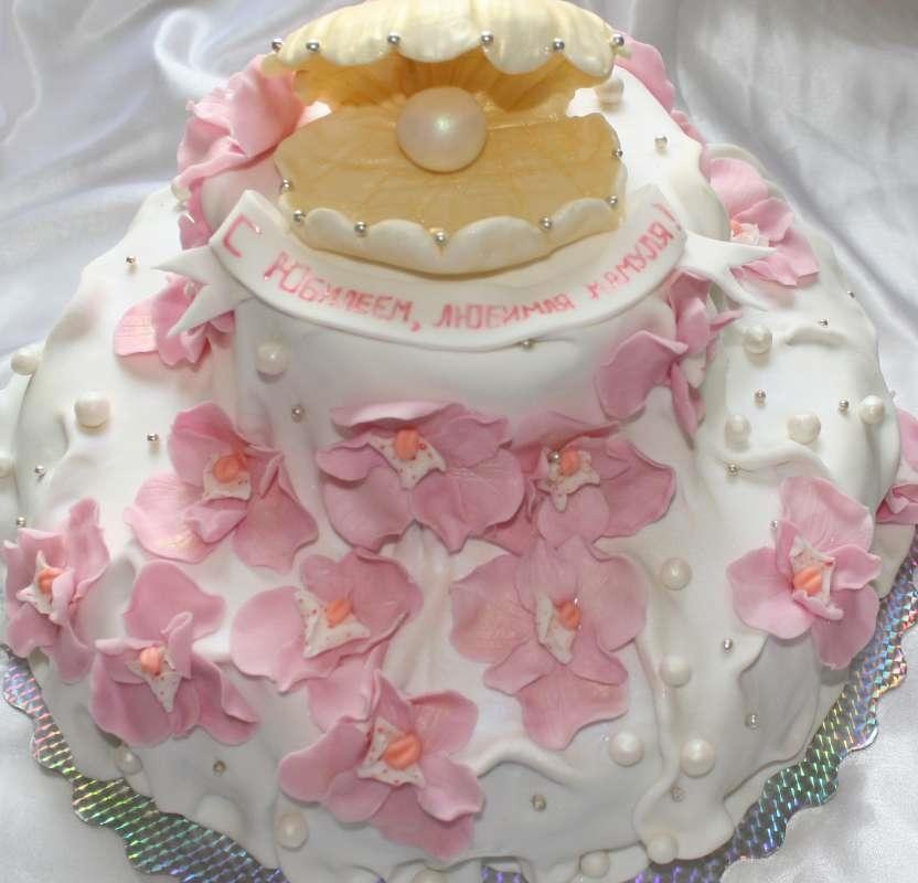 Фото торт для мамы на 55 лет   подборка 006