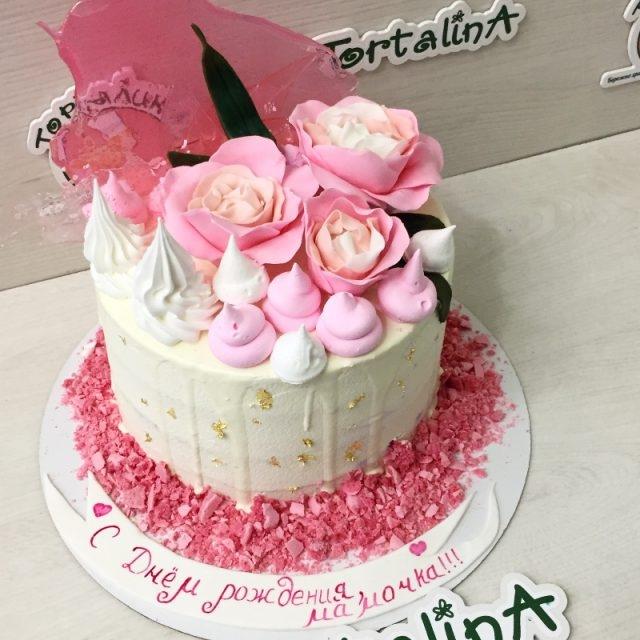 Фото торт для мамы на 55 лет   подборка 007