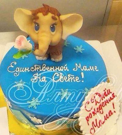 Фото торт для мамы на 55 лет   подборка 009