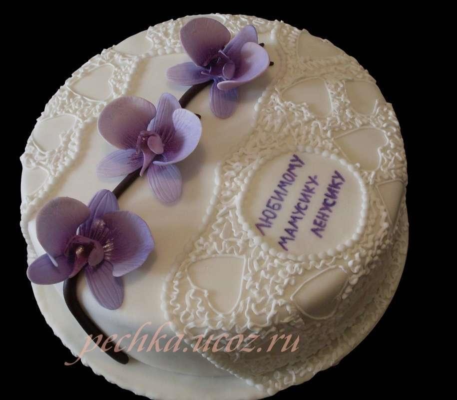 Фото торт для мамы на 55 лет   подборка 013