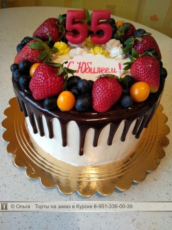 Фото торт для мамы на 55 лет   подборка 014