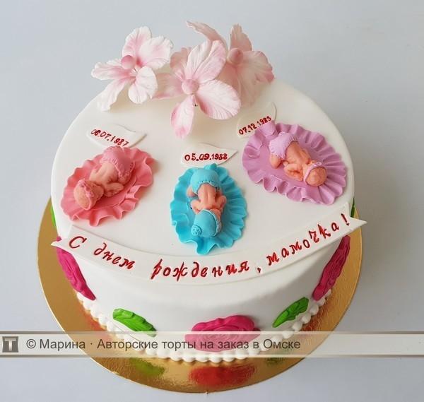 Фото торт для мамы на 55 лет   подборка 016