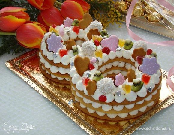 Фото торт для мамы на 55 лет   подборка 017