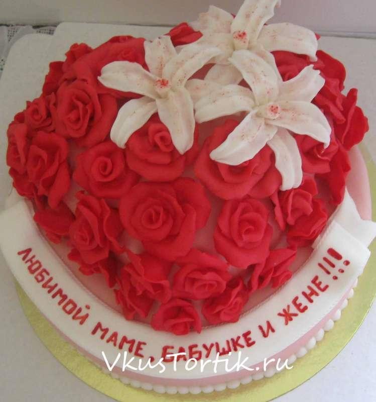 Фото торт для мамы на 55 лет   подборка 018