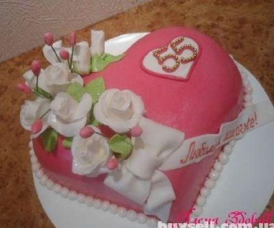 Фото торт для мамы на 55 лет   подборка 019