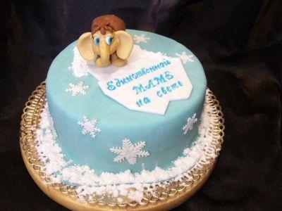 Фото торт для мамы на 55 лет   подборка 023