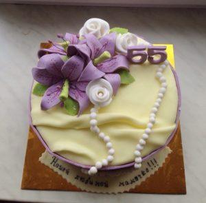 Фото торт для мамы на 55 лет   подборка 024