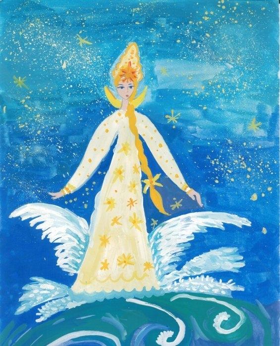 сказки пушкина картинки царевна лебедь окружал меня