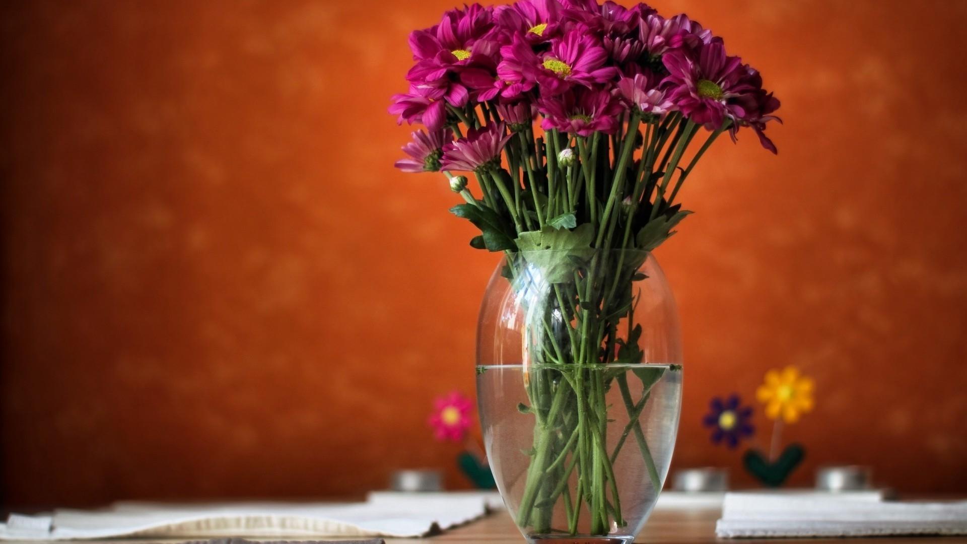 Цветы в вазе обои на рабочий стол018